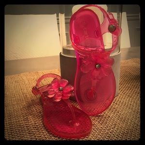 Girl's T-Strap Jelly Sandals